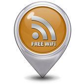 бесплатный wifi значок указателя на белом фоне — Стоковое фото