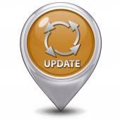 Update pointer icon on white background — Stock Photo