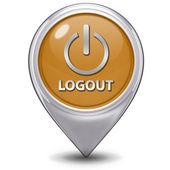Logout pointer icon on white background — Stock Photo