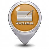 Email pointer icon on white background — Stock Photo