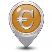 Euro pointer icon on white background — Stock Photo