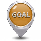 Goal pointer icon on white background — Stock Photo
