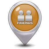 Friends pointer icon on white background — Stok fotoğraf