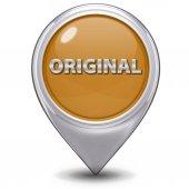 Original pointer icon on white background — Stock Photo