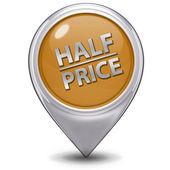 Half price pointer icon on white background — Stock Photo