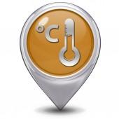 Celsius pointer icon on white background — Stock Photo