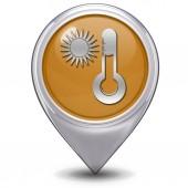Sun pointer icon on white background — Stockfoto