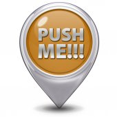 Push me pointer icon on white background — Fotografia Stock