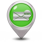 Mms pointer icon on white background — Stock Photo