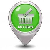 Buy now pointer icon on white background — Stock Photo