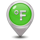 Fahrenheit pointer icon on white background — Stock Photo