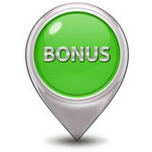 Bonus pointer icon on white background — Stock Photo