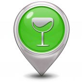 Wine pointer icon on white background — Stok fotoğraf