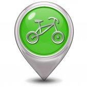Bike pointer icon on white background — Stock Photo
