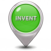 Invent pointer icon on white background — Stock Photo