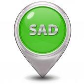 Sad pointer icon on white background — Stock Photo