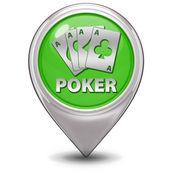 Poker pointer icon on white background — Stock Photo