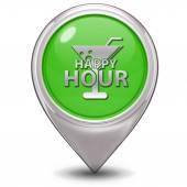 Happy hour pointer icon on white background — Foto de Stock
