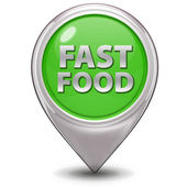 Faast food pointer icon on white background — Stock Photo