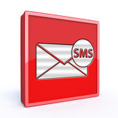 Sms square icon on white background — Stock Photo