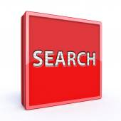 Search square icon on white background — Stock Photo