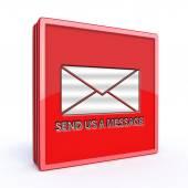 Send square icon on white background — Stock Photo