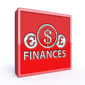 Finance square icon on white background — Stockfoto