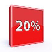 Twenty percent square icon — Стоковое фото