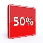 Fivety percent square icon — Стоковое фото