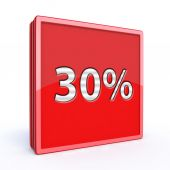 Thirty percent square icon — Стоковое фото