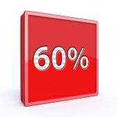 Sixty percent square icon — Стоковое фото