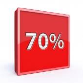 Seventy percent square icon — Стоковое фото