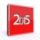 2015 square icon on white background — Stockfoto