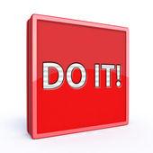 Do it square icon on white background — Stock Photo
