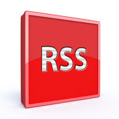 RSS square icon on white background — Stock Photo