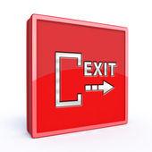 Exit square icon on white background — ストック写真
