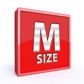 M size square icon on white background — Stockfoto