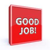 Good job square icon on white background — Stock Photo