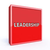 Leadership square icon on white background — Stock Photo