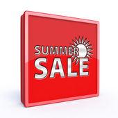 Summer sale square icon — Stock Photo