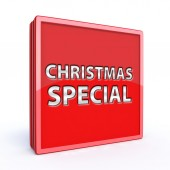 Christmas special square icon — Stock Photo