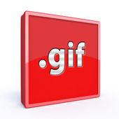 Gif square icon — Stock Photo