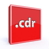 Cdr square icon — Foto Stock