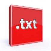 Txt square icon — Stock Photo