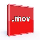 Mov square icon — Stock Photo