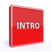 Intro square icon — Stock Photo