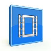 Ícone de quadrado de filme sobre fundo branco — Fotografia Stock