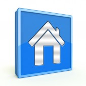 Home square icon on white background — Stockfoto