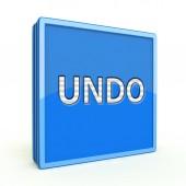 Undo square icon on white background — Stock Photo