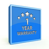 One year warranty square icon on white background — Stock Photo